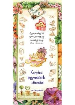 Konyhai jegyzettömb - idézetekkel (rózsaszín)