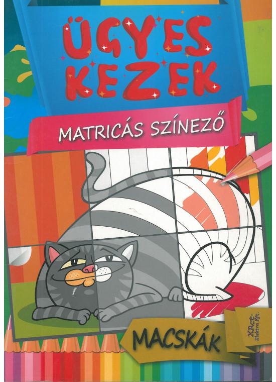 Ügyes kezek - matricás színező - macskák