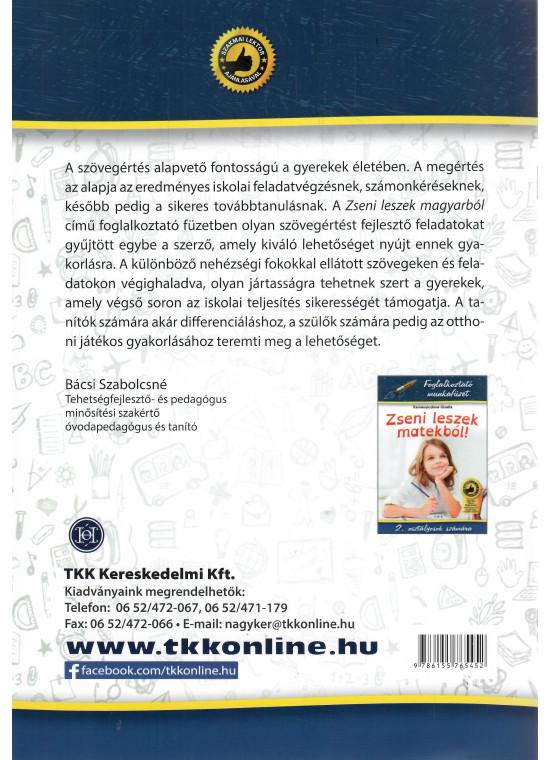 Foglalkoztató munkafüzet - Zseni leszek magyarból! - Szövegértés 2. osztályosok számára