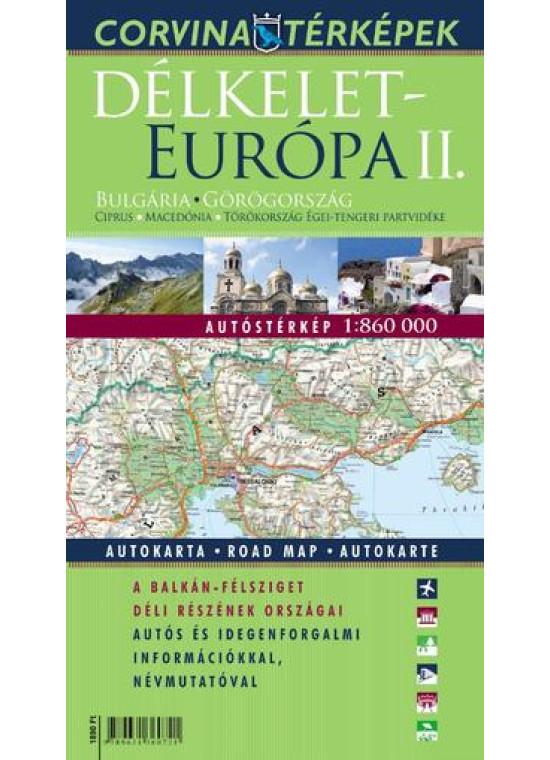 Délkelet-Európa II. autóstérképe