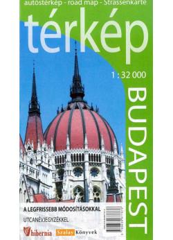 Budapest autóstérkép  1:32000